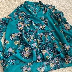 Maurices Wrap Front Blouse